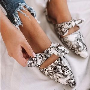 Zara Shoes - PYTHON PRINT HEELS • NWT 1 PAIR